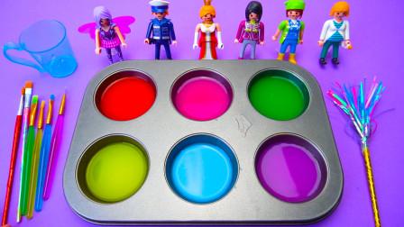 趣味认识多种颜色 彩泥制作叮当猫还有好玩的小玩具