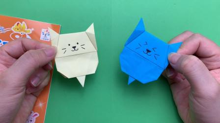 创意折纸手工:制作可爱的狗狗书签,还折出了一条尾巴哦