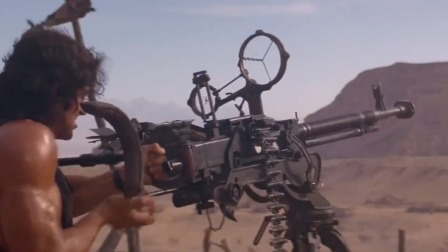 反叛军屠杀平民,退伍兵王咽不下这口气,用重机枪把直升机打爆!