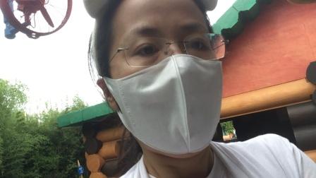 200525-09:23晁安雅陶美梦迪士尼乐园 弹簧狗 我参与看到整新屋顶