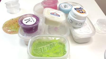 12盒起泡胶混泥大挑战!不同颜色泥却混成M家的抹茶圆饼?无硼砂