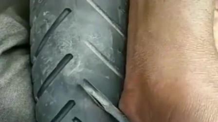 这就是印度的轮胎,反复使用好多次,不出意外都是好运!