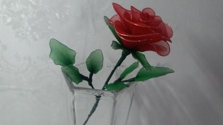 丝网花之红玫瑰(1) 栩栩如生的手工玫瑰花,制作方法简单易学