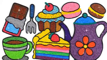 儿童动画雪花彩泥粘土DIY手工制作玩具视频教程大全 蛋糕 咖啡