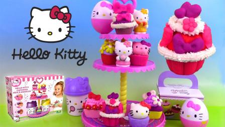 凯蒂猫彩泥玩具:美味的小蛋糕如何制作呢?来看看吧!