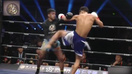 中国新星狂暴一腿,瞬间KO百胜泰拳高手!