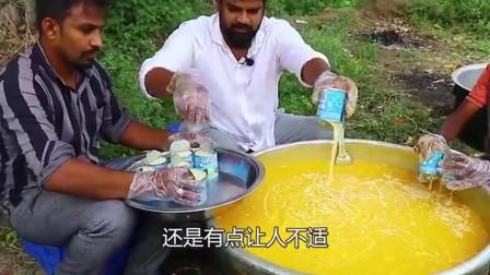 印度兄弟制作芒果冰淇淋,2块1份,外地人不敢吃,当地人:不吃给