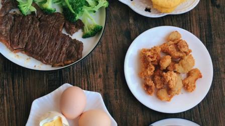 每天好好吃早餐,粗粮细做营养好,玉米豆浆玉米饼,搭配牛排营养好