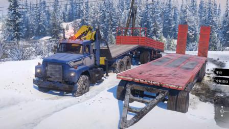 【雪地奔驰】不超载极限运输 运输金属梁 砖块 燃油 阿拉斯加单人流程