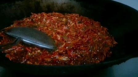 遵义羊肉粉培训丨贵州金香林羊肉粉培训总店,开始制作香酥辣椒!