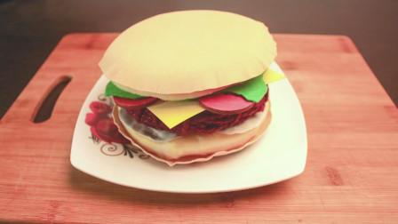 这样的汉堡第一次见,这做法太厉害了,开眼界了!