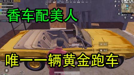 和平精英:沙漠最肥资源点,唯一一辆黄金跑车,有它堪比夺冠!