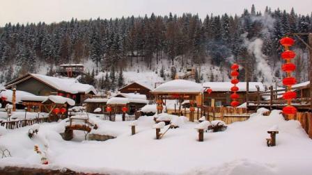 牡丹江雪乡梦幻家园雪景