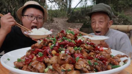 """145买6斤肥肠做一份""""辣子肥肠""""色香味美,香辣过瘾真下饭"""