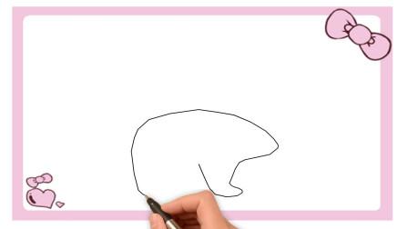 北极熊简笔画