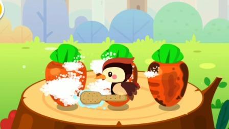 宝宝美食森林  小兔子用胡萝卜做的饭团  宝宝巴士游戏