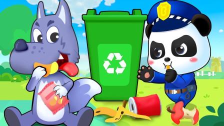 垃圾桶小队来到餐厅里,是不是有很多的垃圾呢?宝宝巴士游戏