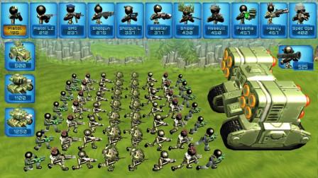 火柴人坦克战争模拟器:只扔炸弹不开枪,这武器是假的吗