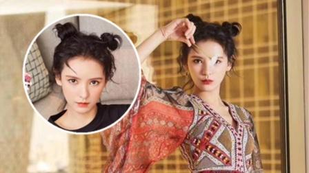 29岁张予曦依旧很少女,哪吒头配复古连衣裙,演绎新娘的多种造型
