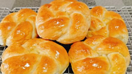 酸奶喝不完?用来做酸奶花式小面包、蓬松柔软又拉丝、香甜好吃!