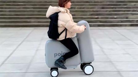 把电动车放在书包里,拿出来直接骑,你看懂了吗