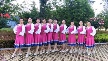 河南唐河一方舞蹈队演绎团队版《离离原上情》场面气势太强