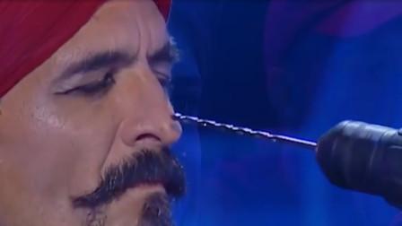 世界上最魔幻的表演,牛人铁钩穿插鼻孔,简直不要太扎眼