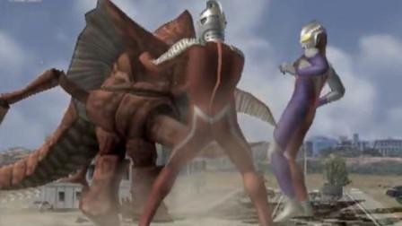 艾克斯奥特曼和恐龙贝克合作对战哥尔赞谁赢?