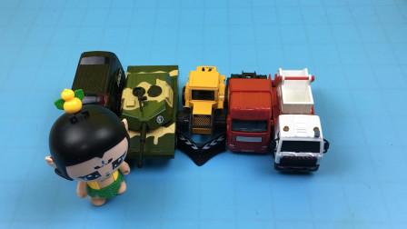 葫芦兄弟分享铲车推土机玩具