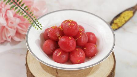 一道酸甜开胃的冰镇甜品,话梅蜜渍小番茄清凉一夏