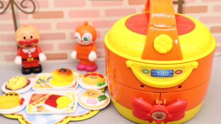 童趣游戏面包超人 第一季 面包超人变形电饭煲,做甜点给红精灵吃