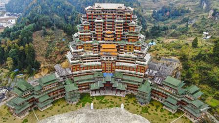 """隐藏在深山的""""豪宅"""",高度达到了100米,这是谁的房子?"""