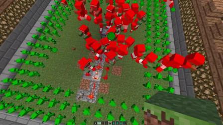 【老白解说】我的世界植物大战僵尸豌豆射手对阵护甲僵尸!