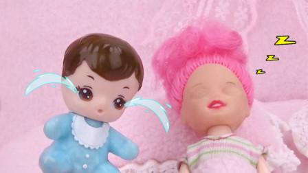 芭比剧场:小宝宝早上叫姐姐起床,结果被姐姐气哭了
