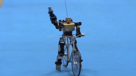世界首个能骑自行车的机器人,所有动作它都会,平衡能力一绝