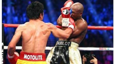 帕奎奥大战不败拳王梅威瑟慢镜头回放梅威瑟吃的最重的拳