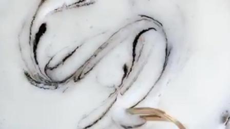 优米麻麻辅食教程—ins风大理石纹蒸糕