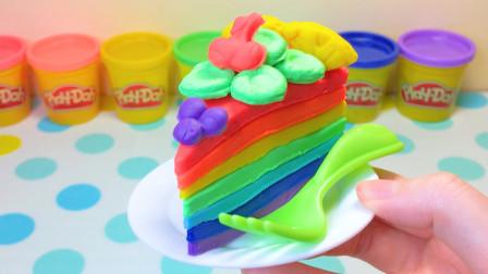 儿童益智彩泥:DIY七色彩虹千层蛋糕