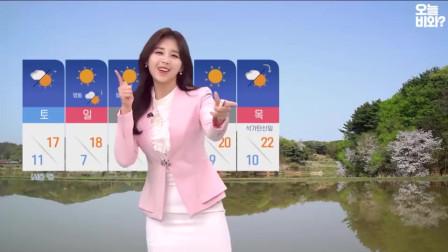 收视率暴增!韩国气象女主播台上即兴表演