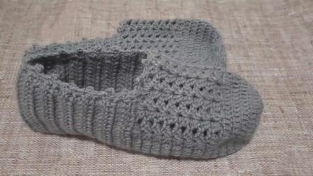 「钩针编织」时尚的灰色袜套!