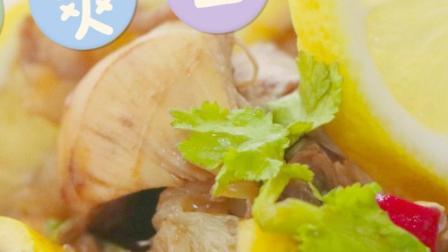 酸辣爽口的凉拌柠檬鸡,夏天吃肉也不腻