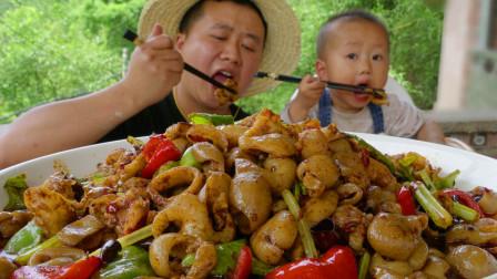 """75买5斤肥肠,做一道正宗川菜""""火爆肥肠""""麻辣鲜香肥肠脆嫩爽口"""