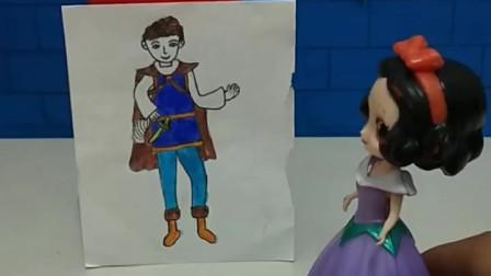 白马王子变成了画像,黑暗王子和他比赛,小朋友们支持谁