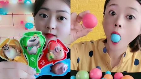 萝莉小姐姐吃播:彩色球球、奶酪棒棒,各种口味任意选,是我向往的生活