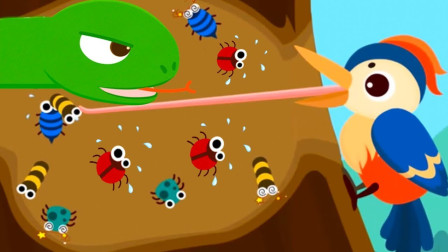 宝宝巴士之动物乐园 啄木鸟吃害虫 游戏