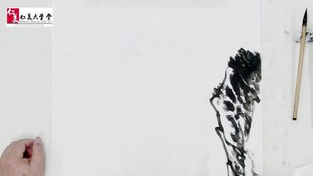 山水画中岩壁如何画 系统的山水画教学视频 初学者福音