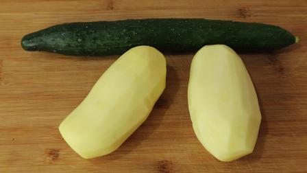 土豆丝别再炒着吃了,加1根黄瓜,比吃红烧肉还香,下酒又下饭