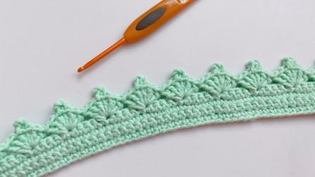 钩针编织,实用的皇冠花边,钩法简单功能强大图解视频