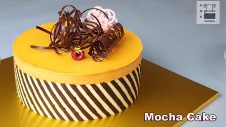 充满食欲的颜色搭配,考究的制作过程,巧克力摩卡蛋糕,好吃