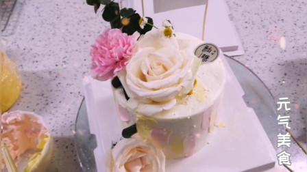 历经辛苦,终于做了一款高颜值蛋糕,送给亲爱的妈妈